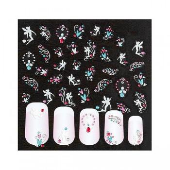 Adornos adhesives para uñas