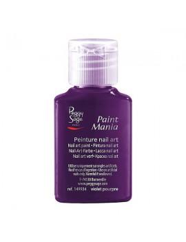 Pintura nail art violet...