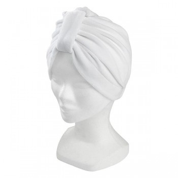 Gorro turbante blanco
