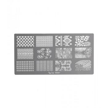 Placa de stamping nail art 1