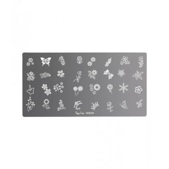 Placa de stamping nail art 5