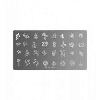 Placa de stamping nail art 6
