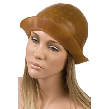 GORRO MECHAS MARRON CAUCHO 896
