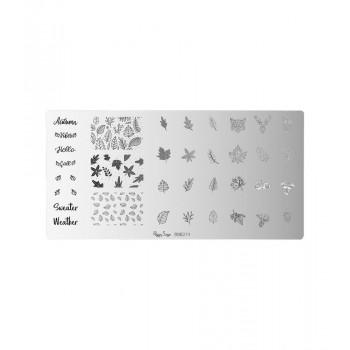 Placa de stamping nail art...